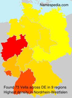 Surname Vella in Germany