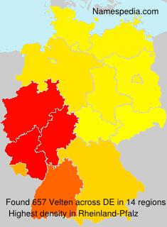 Familiennamen Velten - Germany