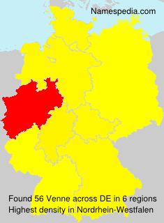 Familiennamen Venne - Germany