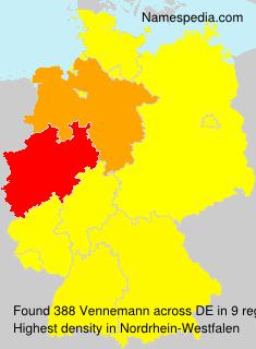 Surname Vennemann in Germany