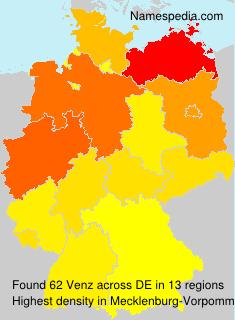 Surname Venz in Germany