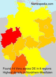Surname Vera in Germany