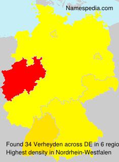 Surname Verheyden in Germany