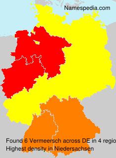 Surname Vermeersch in Germany