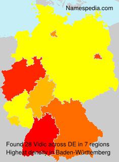 Surname Vidic in Germany