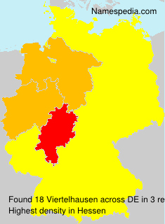 Surname Viertelhausen in Germany