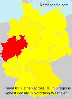 Familiennamen Viethen - Germany