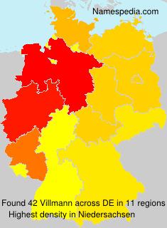 Familiennamen Villmann - Germany