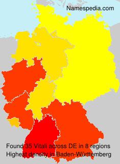 Familiennamen Vitali - Germany