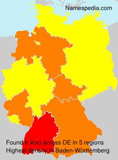 Familiennamen Voci - Germany