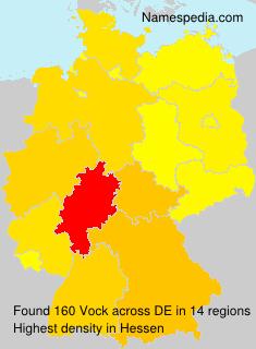 Surname Vock in Germany