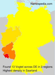 Surname Vogtel in Germany
