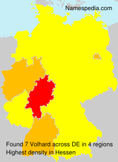 Surname Volhard in Germany