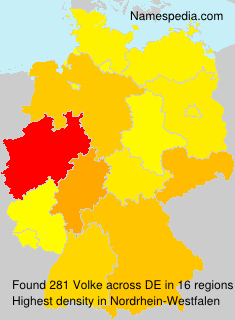 Surname Volke in Germany