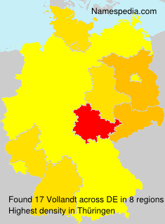 Surname Vollandt in Germany