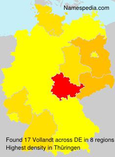 Surname Vollandt in Germany