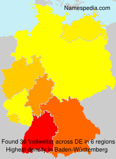 Surname Vollweiter in Germany