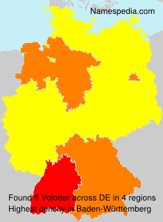 Surname Voloder in Germany