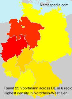 Surname Voortmann in Germany