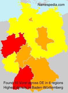 Surname Vorel in Germany