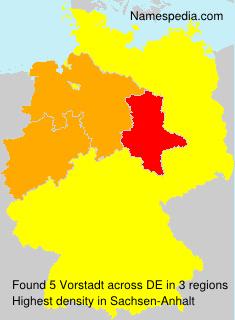 Surname Vorstadt in Germany