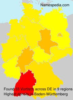 Familiennamen Vortisch - Germany