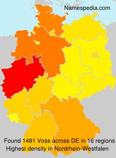 Familiennamen Voss - Germany