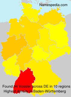 Surname Vossler in Germany
