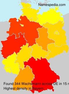 Familiennamen Wachsmann - Germany