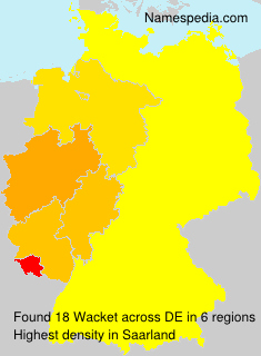 Surname Wacket in Germany