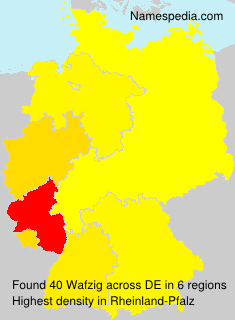 Surname Wafzig in Germany