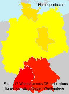 Familiennamen Wahala - Germany