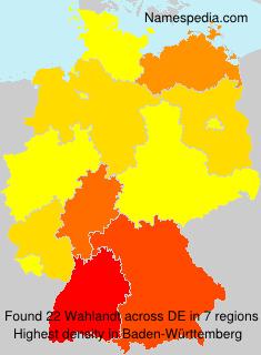 Surname Wahlandt in Germany