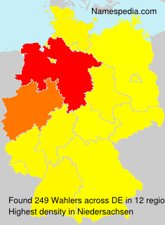 Familiennamen Wahlers - Germany