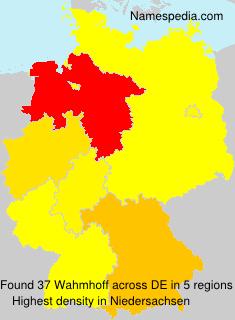 Surname Wahmhoff in Germany