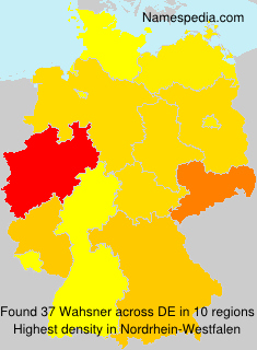 Surname Wahsner in Germany
