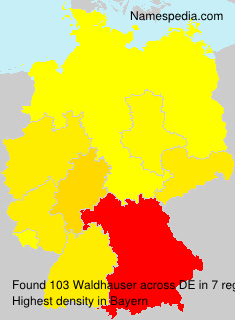 Familiennamen Waldhauser - Germany
