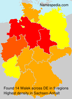 Surname Walek in Germany