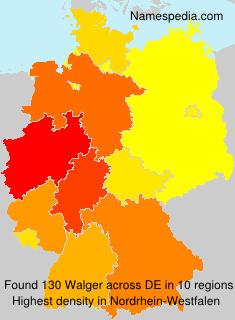 Familiennamen Walger - Germany