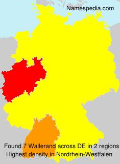 Familiennamen Wallerand - Germany