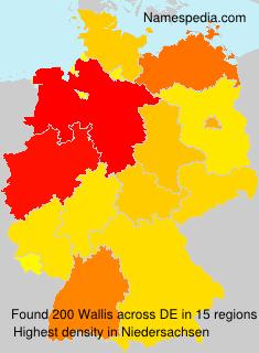 Surname Wallis in Germany