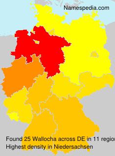 Surname Wallocha in Germany