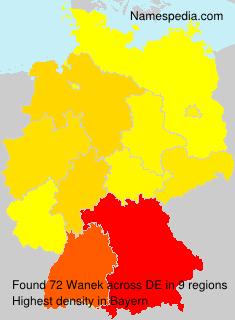 Surname Wanek in Germany