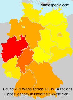 Familiennamen Wang - Germany