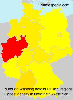 Familiennamen Wanning - Germany