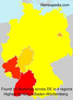 Surname Warbinek in Germany