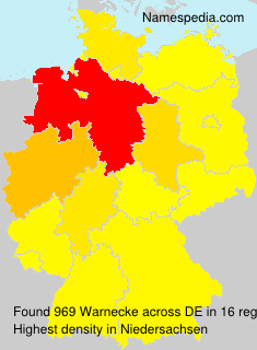 Surname Warnecke in Germany