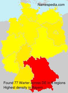 Familiennamen Warter - Germany
