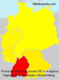 Familiennamen Wassmer - Germany