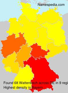 Surname Wattenbach in Germany
